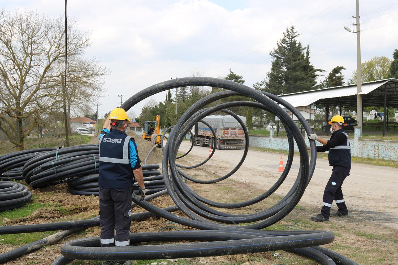 Sakarya Sinanoğlu'nda içme suyu şebekesini yeniliyor