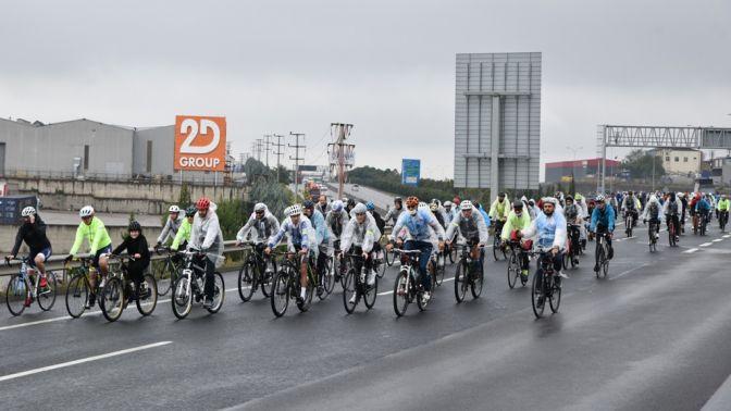 AB İklim Diplomasisi Haftası Körfez Bisiklet Geçişi yapıldı