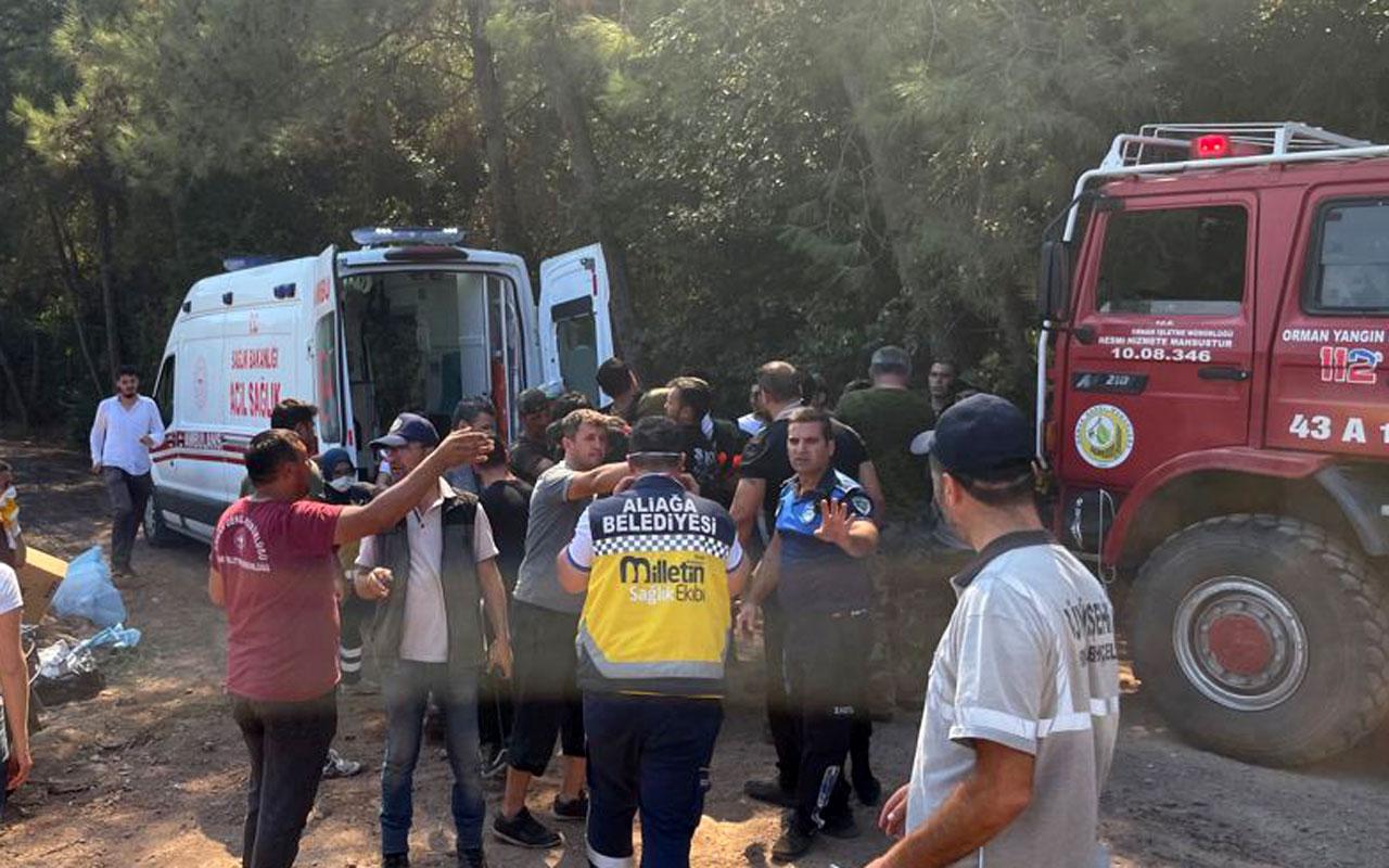 Aliağa'nın 'Milletin Ekibi' Marmaris yangın bölgesinde