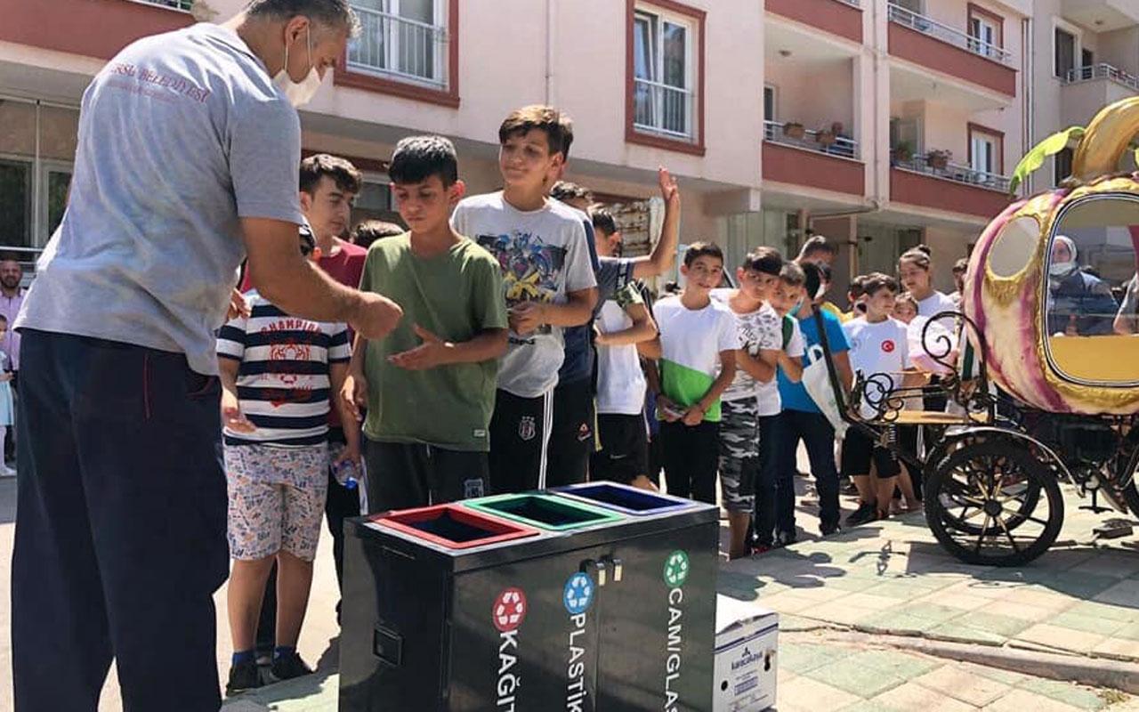 Bursa Gürsu'da çocuklara çevre bilinci