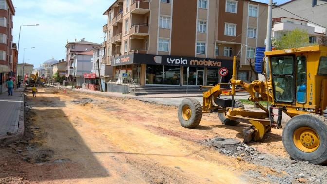 Darıca Battalgazi Caddesinde üst yapı çalışması