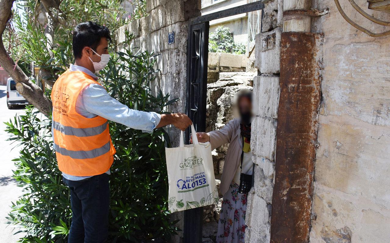 Gaziantep 5 bin aileye et dağıtımı