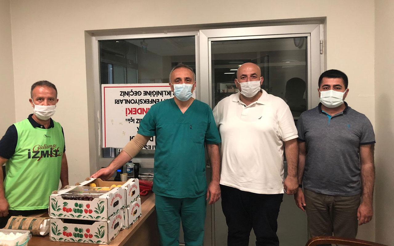 Kocaeli İzmit'te sağlık çalışanları unutulmadı