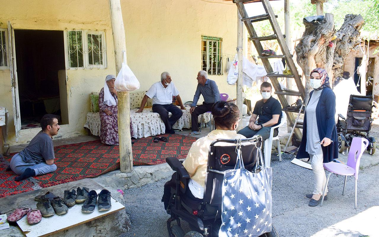 Malatya'da engelli kardeşlere Kent Konseyi'nden şefkat eli
