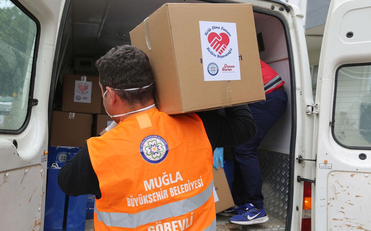 Muğla'dan yangın mağdurlarına destek