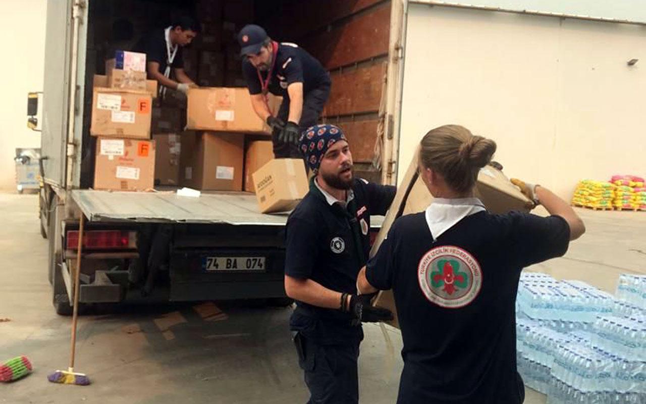 Bursa'dan yangın bölgelerinde gönüllü destek