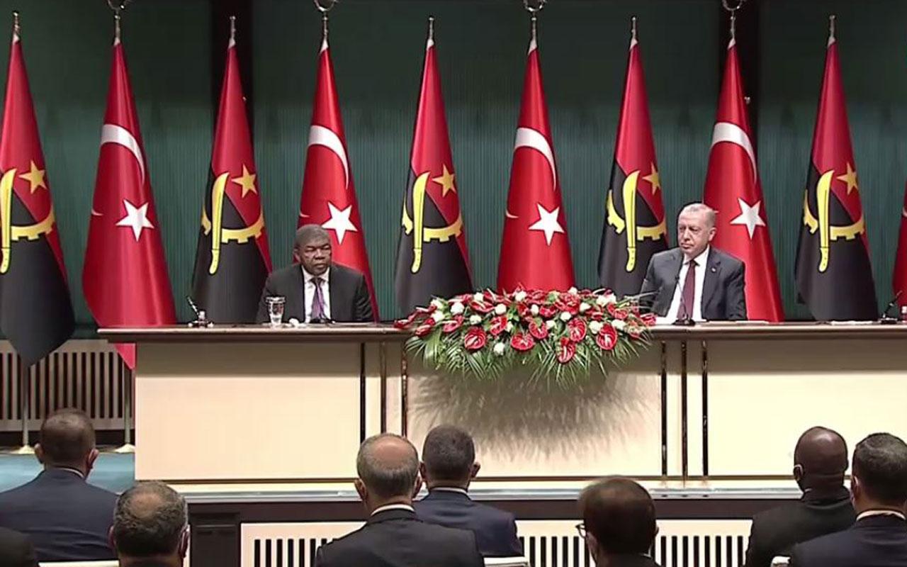 Cumhurbaşkanı Erdoğan'dan Angolalı mevkidaşını ağırlıyor