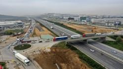 Gebze'deki dev projede çalışmalar Kuzey yan yolda yoğunlaştı
