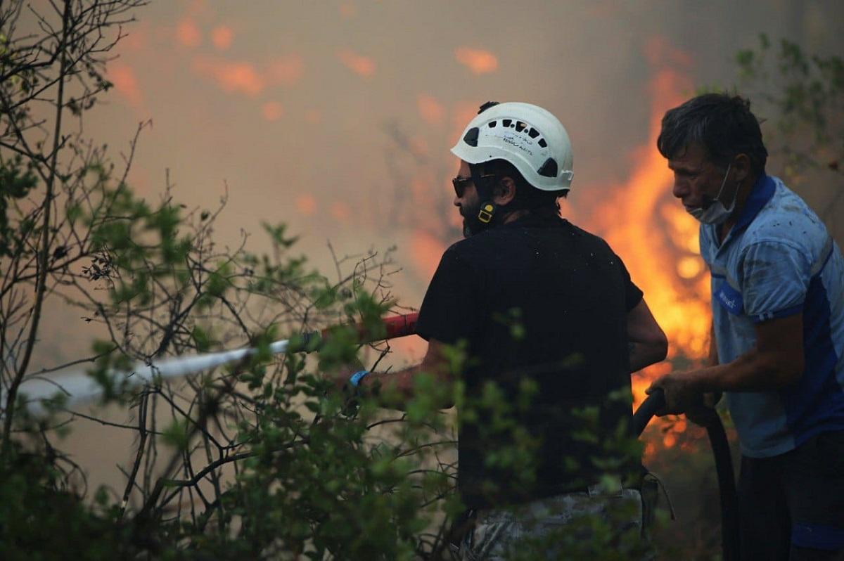 İzmir Aliağa Belediyesi Marmaris yangın bölgesinde