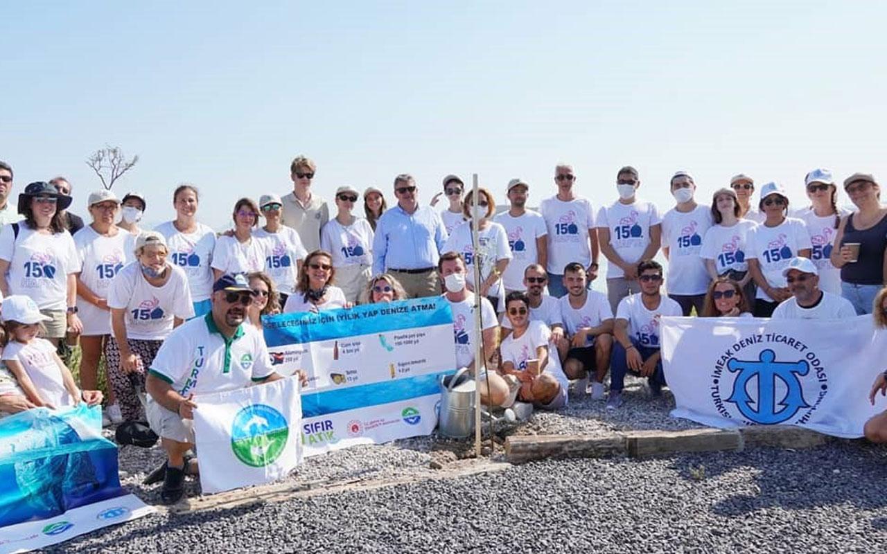 İzmir Çeşme'de kıyı temizliği seferberliği