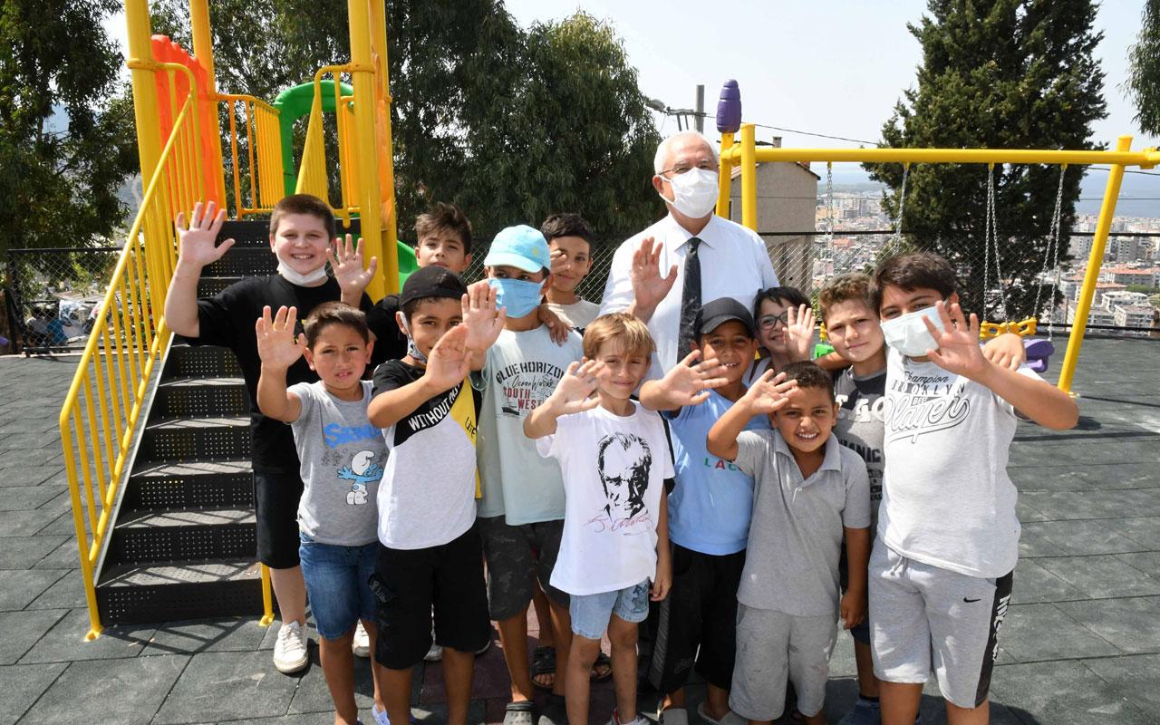 İzmir Karabağlar'da çocukların park talebi yerine geldi