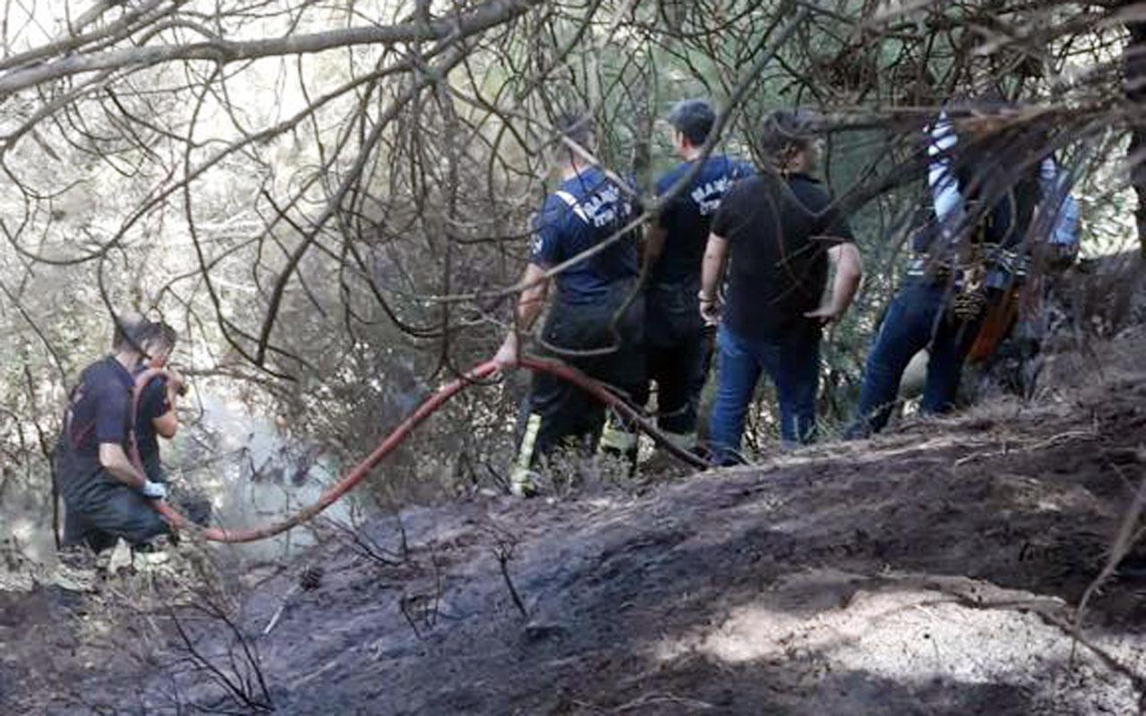 Manisa Alaşehir'de yangın kontrol altına alındı