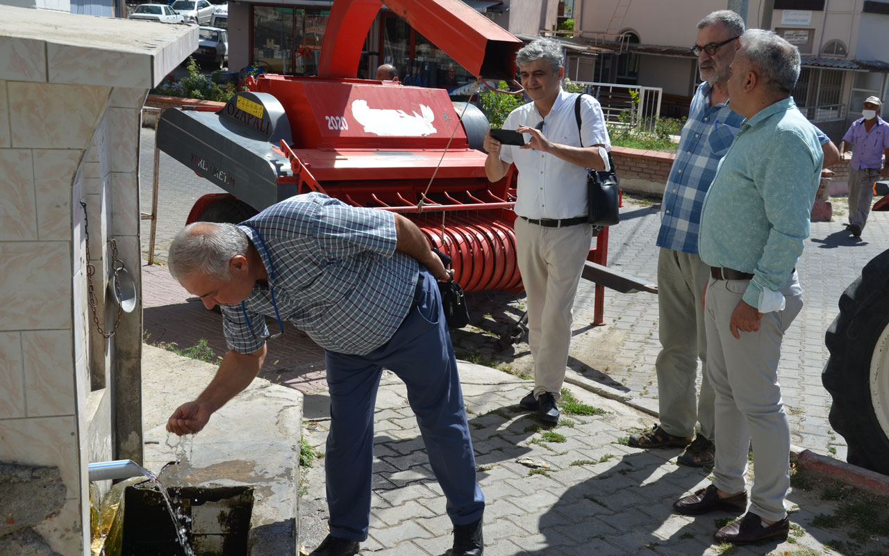 Manisa Demirci'de içme suyu kaynaklarına yakın mercek