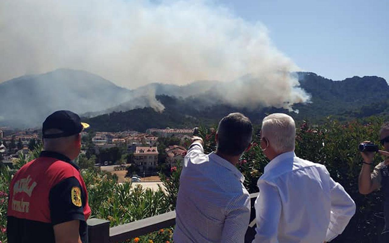 Muğla'da Başkan Gürün yangın bölgesinde