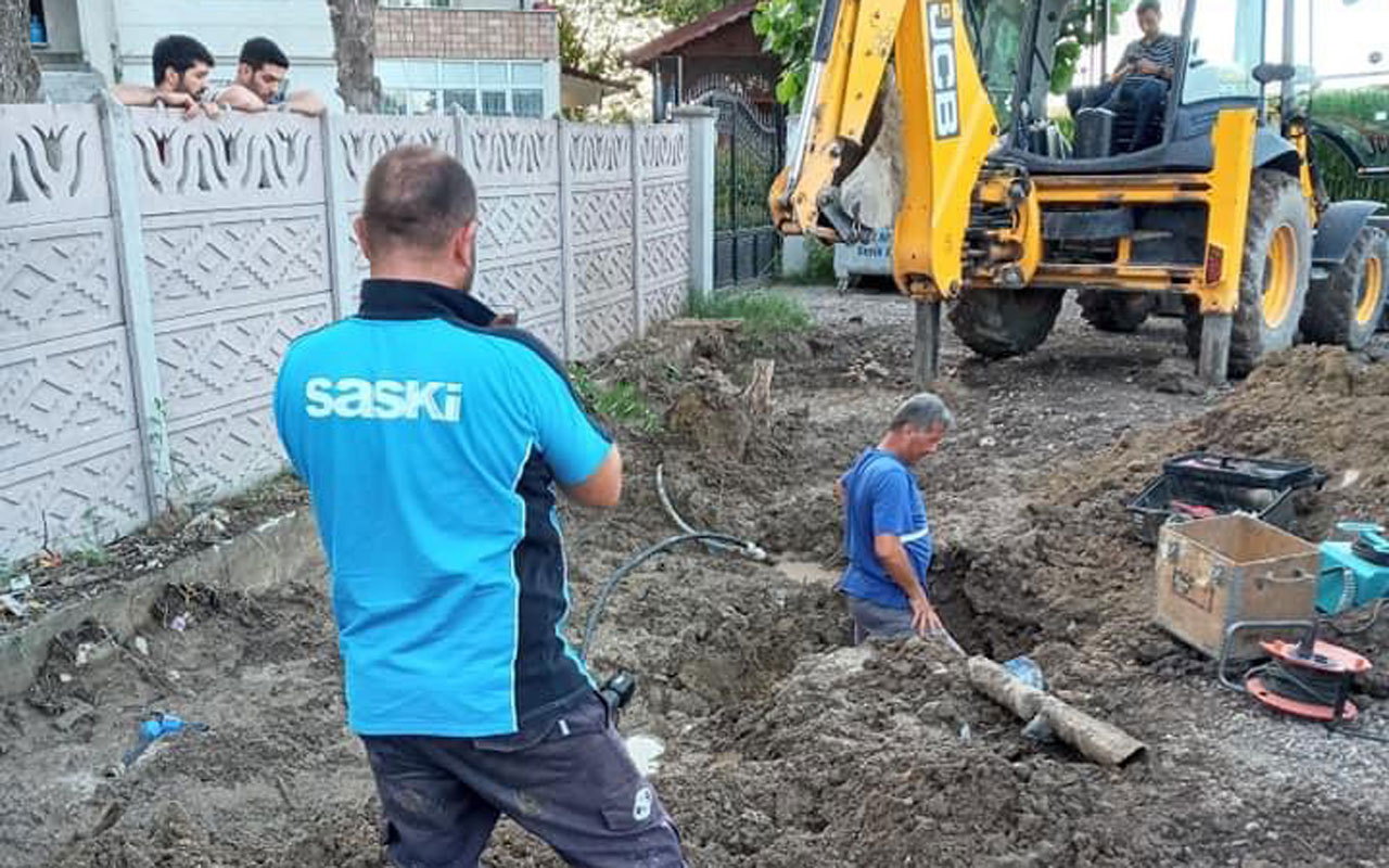 SASKİ ekipleri Sakarya Karakamış'da çalışıyor