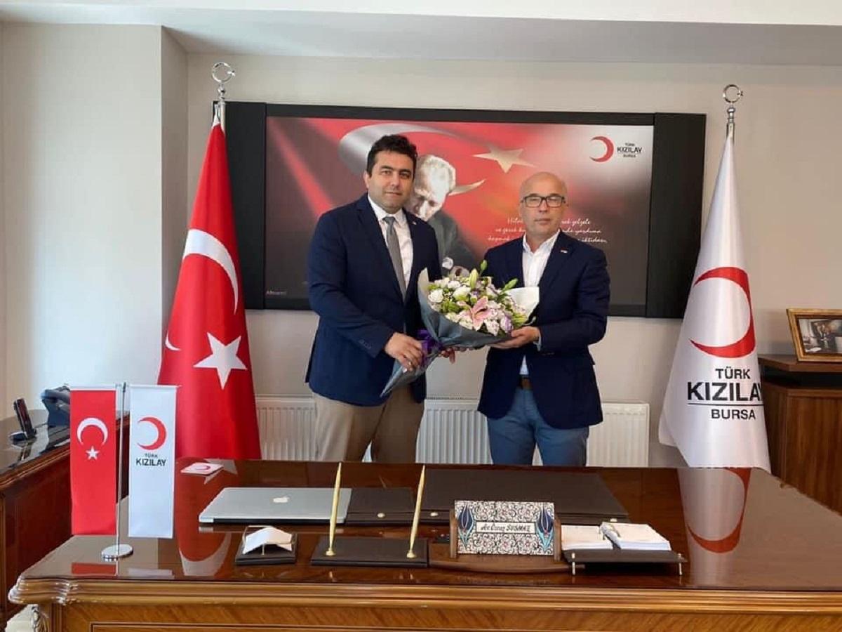 Türk Kızılayı Bursa'da nöbet değişimi